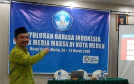 Pers Sumut Diajak Sosialisasikan Pengutamaan Bahasa Indonesia