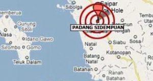 Gempa Beruntun Guncang Padang Sidempuan