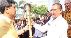 Obor Paskah Nasional 2018 Diarak di Medan