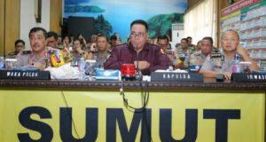 Kapolda Sumut Video Conference dengan Kapolres Bahas Kamtibmas
