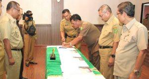 Pimpinan OPD Pemko Medan Tandatangani Perjanjian Kinerja